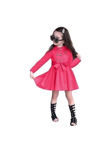 Quzucuk Kids Kız Çocuk Fuşya Trenç Elbise Fuşya